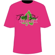 AKA Pretty Girl Rock, Hot Pink Screen Printed T-Shirt