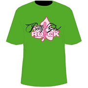 AKA Pretty Girl Rock, Kelly Green Screen Printed T-Shirt