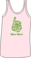 AKA Pinkie Ladies Screen Printed Tank Top, Pink