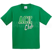 Ace Club Screen Printed T-Shirt, Kelly/Pink