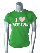 Alpha Kappa Alpha I Heart My LSs Screen Printed T-Shirt
