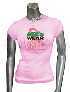 AKA Pink Ribbon Breast Cancer Awareness Screen Printed T-Shirt, Pink