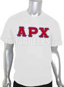 Alpha Rho Chi Men's Greek Letter Screen Printed T-Shirt, White