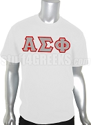 Alpha Sigma Phi Greek Letter Screen Printed T-Shirt, White