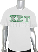 Chi Sigma Tau Greek Letter Screen Printed T-Shirt, White