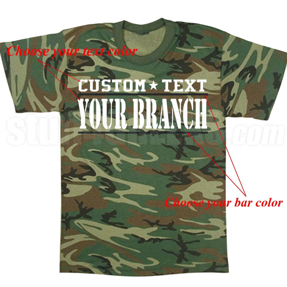 custom military screen printed t shirts