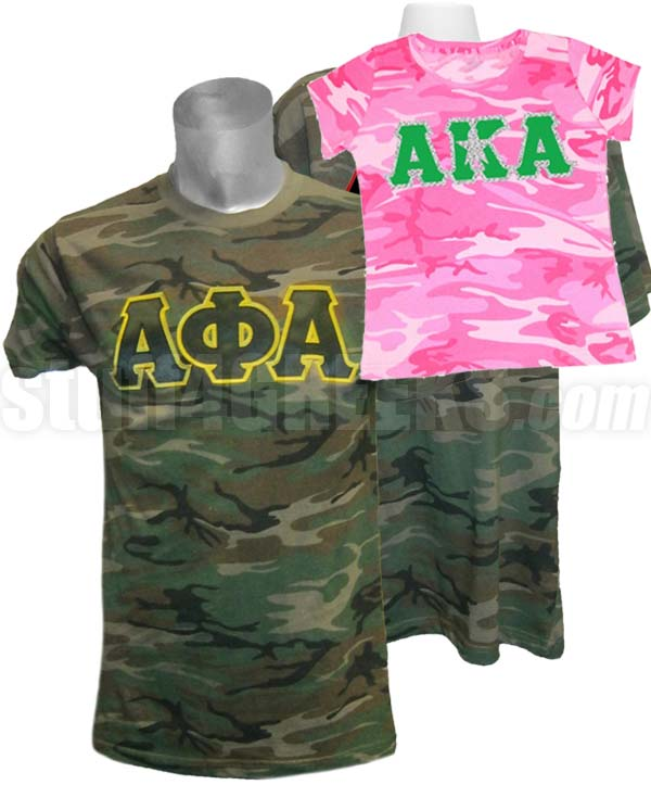 Custom Embroidered Camouflage T Shirt