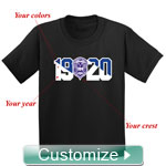 Custom Crest and Founding Year Screen Printed T-Shirt