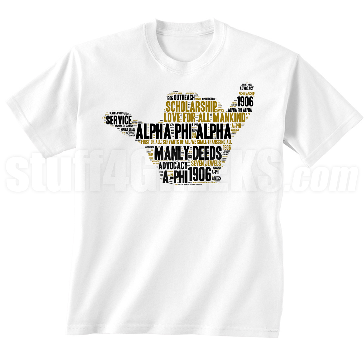 Alpha Phi Alpha Hand Sign Screen Printed T-Shirt, White - Designs by ...