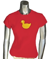 Duck Ladies Tee, Red