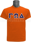 Gamma Omega Delta Greek Letter Screen Printed T-Shirt, Orange