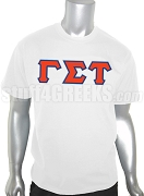 Gamma Sigma Tau Greek Letter Screen Printed T-Shirt, White