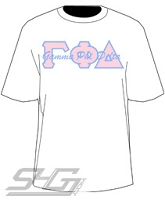 Gamma Phi Delta with Words Thru Letters, White Shirt