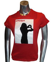 iPledged Lady with Dynasty Sign, Red Ladies Tee
