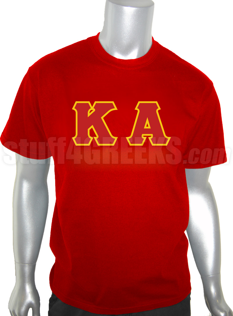 Kappa Alpha Order Screen Printed T-Shirt with Letters, Red