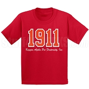 1911 Kappa Alpha Psi Screen Printed T-Shirt, Red