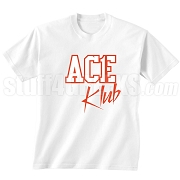 Ace Klub Screen Printed T-Shirt, White/Red