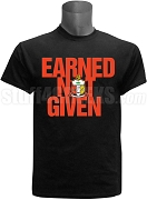 Kappa Alpha Psi Earned Not Given Screen Printed T-Shirt, Black