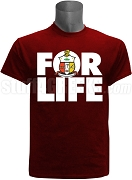 Kappa Alpha Psi For Life Screen Printed T-Shirt, Crimson