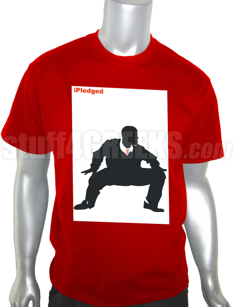 kappa alpha psi shimmy ipledged t-shirt  red