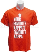 Your Favorite Kappa's Favorite Kappa Screen Printed T-Shirt, Red