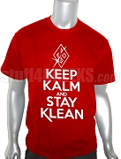 Kappa Alpha Psi Keep Kalm Screen Printed T-Shirt, Red