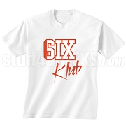6/Six Klub Screen Printed T-Shirt, White/Red