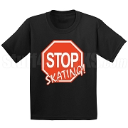 Stop Skating! Screen Printed T-Shirt (RED-WHT)