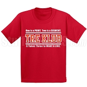 Kappa Alpha Psi Tre Klub (Gen1) Screen Printed T-Shirt, Red