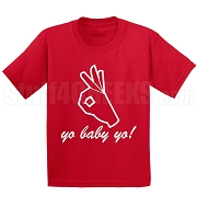 Yo Baby Yo Screen Printed T-Shirt, Red