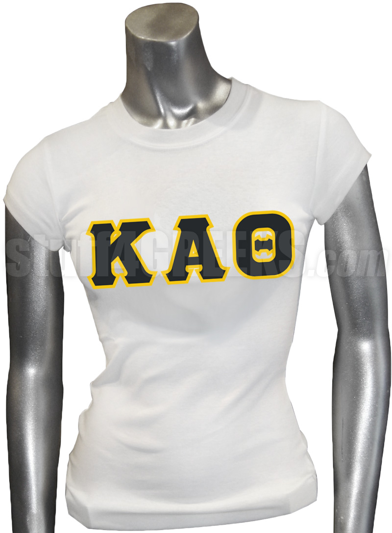 kappa alpha theta screen printed t shirt with greek letters white zoom