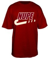 Nupe Swoosh Screen Printed T-Shirt