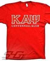Kappa Centennial Klub Screen Printed T-Shirt, Red