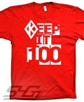 Kappa Keep It 100 Screen Printed T-Shirt, Red