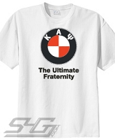 Kappa Alpha Psi - The Ultimate Fraternity, White Screen Printed Tee