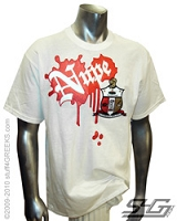 Nupe Paint Splatter Screen Printed T-Shirt, White