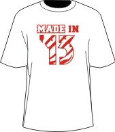 MADE IN... Shirt - White/Red