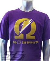 Omega Ade (Is It In You?) Screen Printed T-Shirt, Purple
