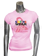 OES Pink Ribbon Breast Cancer Awareness Screen Printed T-Shirt, Pink