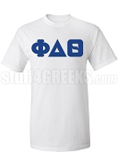 Phi Delta Theta Greek Letter Screen Printed T-Shirt, White