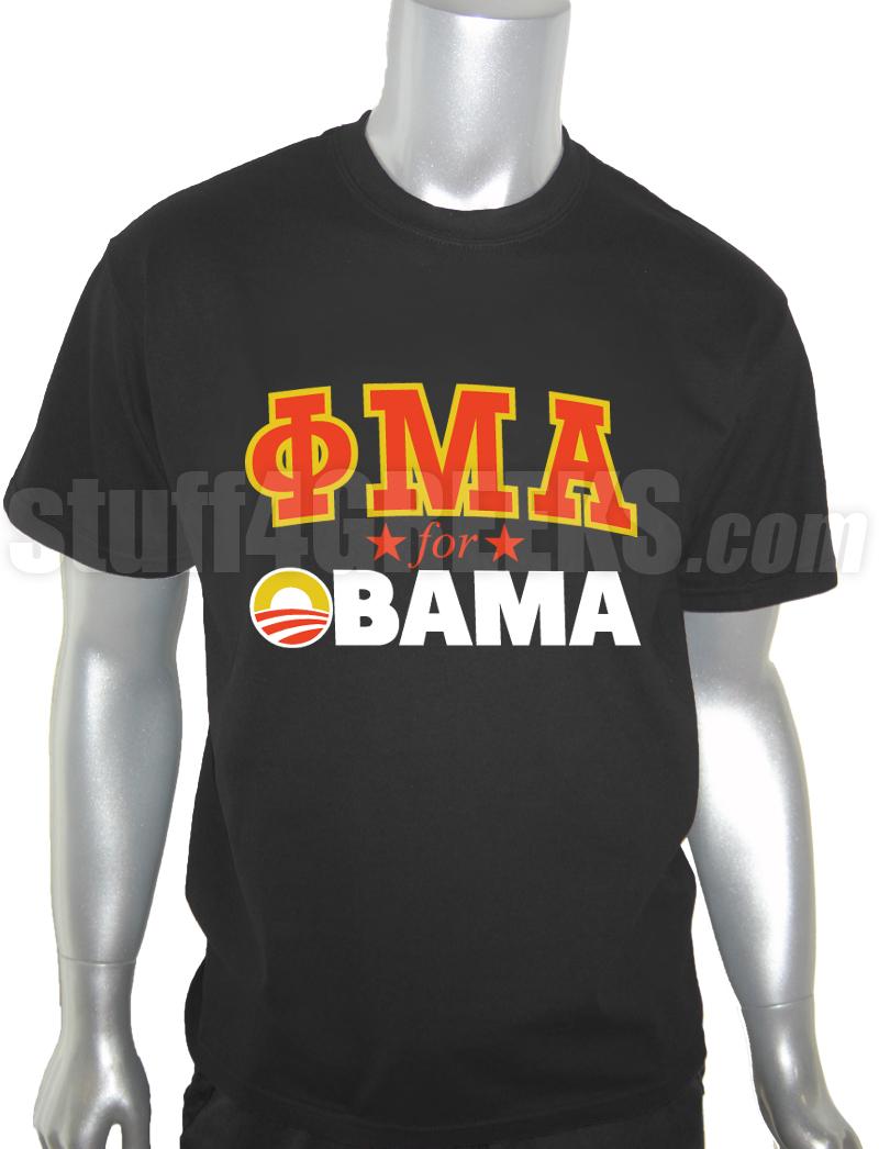 Phi Mu Alpha For Obama T Shirt Black