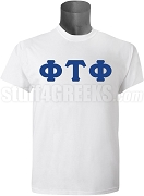 Phi Tau Phi Men's Greek Letter Screen Printed T-Shirt, White