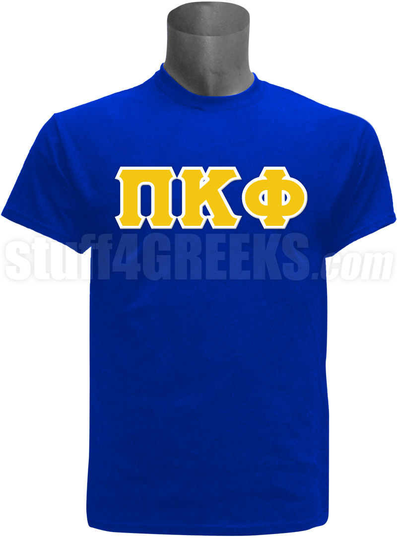 Pi Kappa Phi Greek Letter Screen Printed T Shirt Royal Blue