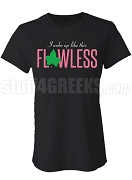 Flawless Alpha Kappa Alpha Screen Printed T-Shirt, Black