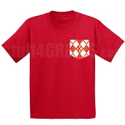 Argyle Diamond Faux Pocket Screen Printed T-shirt