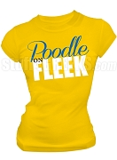 Sigma Gamma Rho, Poodle on Fleek Screen Printed T-Shirt, Gold