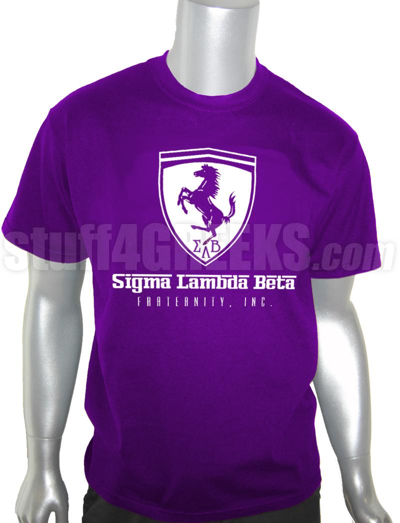tshirt beta logo lambda shirt ferrari prl sigma t screen printed purple p