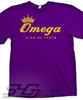 Omega King of Frats Screen Printed T-Shirt, Purple