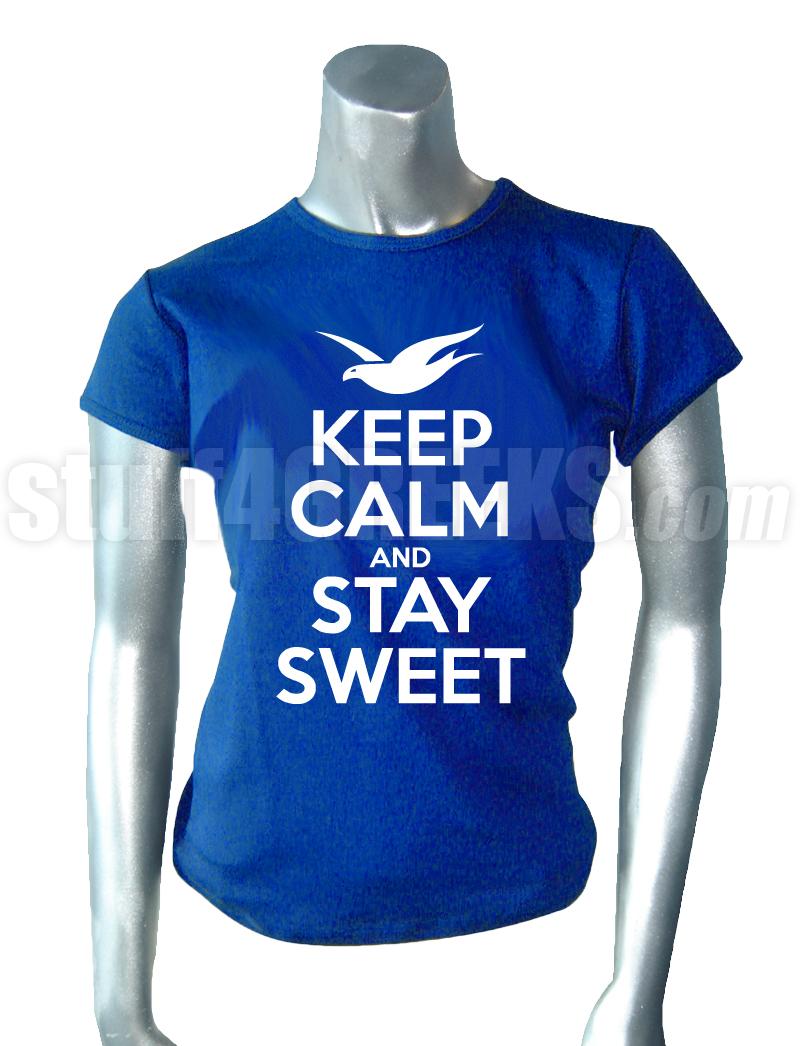 Design t shirt keep calm -  Keep Calm Screen Printed T Shirt Royal Blue Zoom