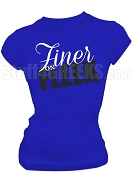 Zeta Phi Beta Finer on Fleek Screen Printed T-shirt, Royal